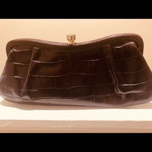 🌼OFFERS Banana Republic Chocolate Leather Clutch